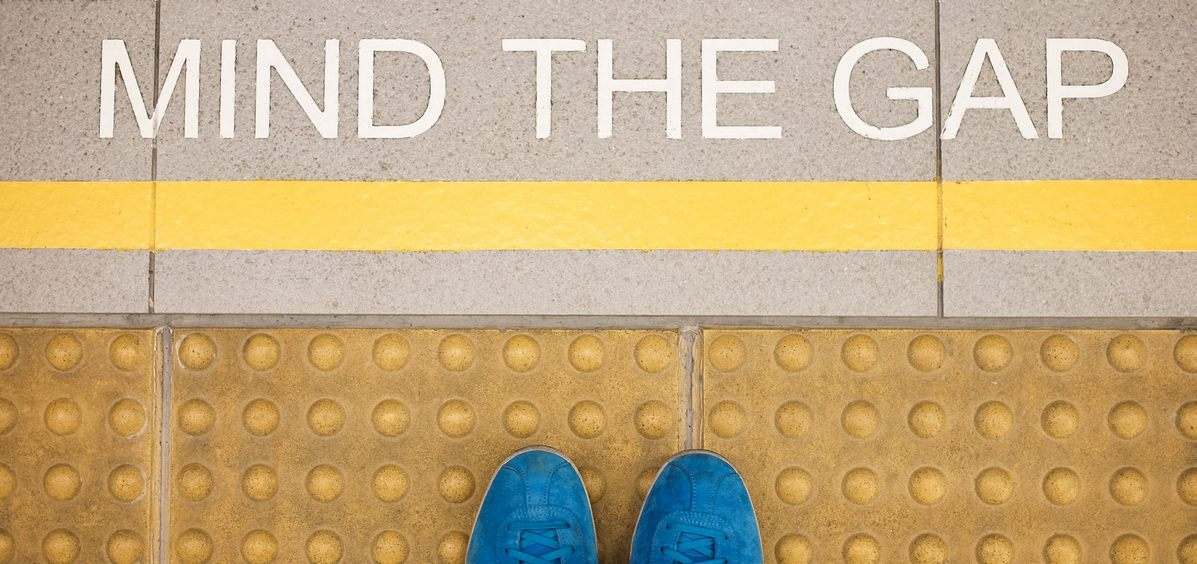 Mind The Gap - an image of the London UK Underground platform, used to signify the gap in the market when it comes to independent financial advice